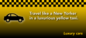 Travel like a New Yorker in a luxurious yellow taxi.